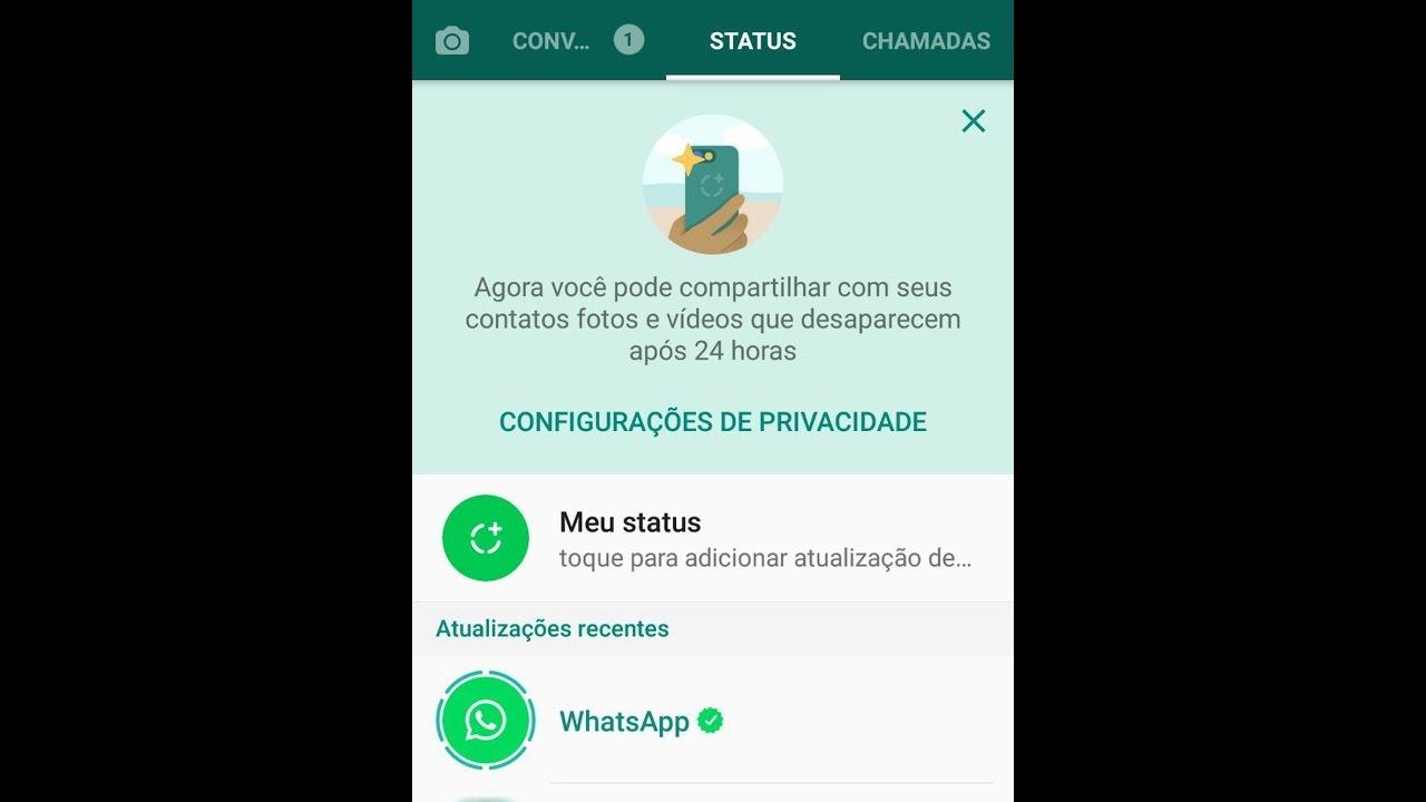 Novo Status Do Whatsapp Aprenda Como Usar Versão Semelhante A