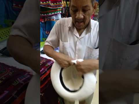 Como dobrar guardar chapéu Panamá - YouTube fafdf76fa0d