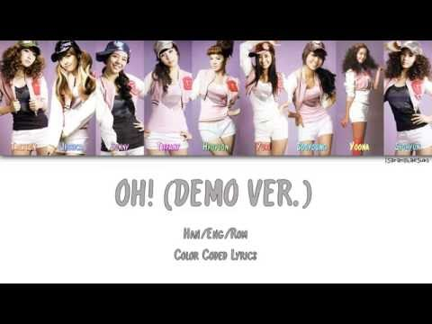 GIRLS' GENERATION/SNSD (소녀시대) - OH! (DEMO VER.) [Color Coded Han|Rom|Eng]