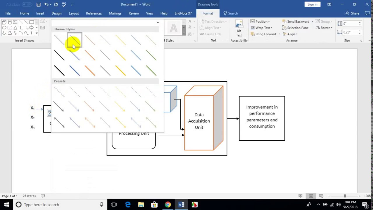 How To Make The Schematic Diagram Of A Process In Microsoft Word Zoom Meeting 4b Youtube