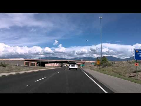 Driving into Santa Fe: NM 4, 502, US 84 and 285 Dashcam Drivelapse