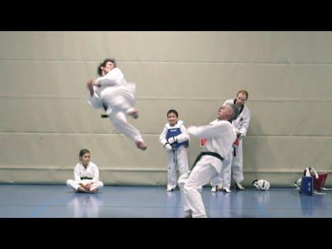 Michael Braun - Taekwondo demo fight