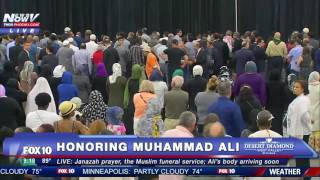 FNN FULL COVERAGE: Muhammad Ali Funeral - Janazah (Jenazah) Muslim Prayer Service in Louisville