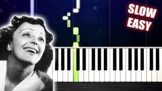 Edith Piaf - La Vie En Rose - SLOW EASY Piano Tutorial by PlutaX