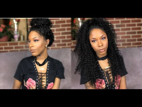 Chinalacewig Pre-plucked Brazilian Virgin Human Hair Curly 360 Lace Frontal Wig Show & Tell