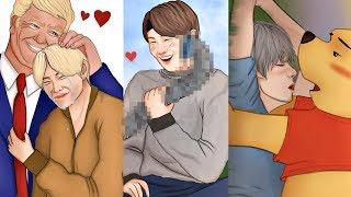 Drawing ridiculous BTS SHIPS & EXO SHIPS