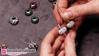 How to Use Bead Aligners with Large Hole Beads to Make Earrings