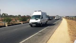 CM KCR Convoy on NH65- Slowmotion