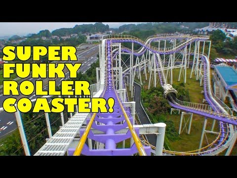 Funky Sketchy Roller Coaster - Jetcorster Discovery at Lina World in Japan