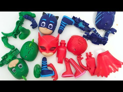 Pj Masks Wrong Body part Puzzle Learn Colors with Balls Ice Cream Pj Masks Wrong Heads