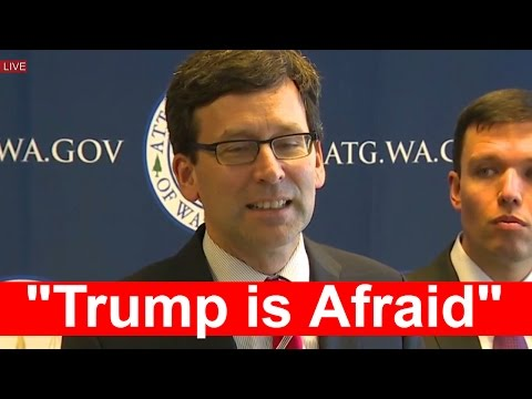 "LIVE STREAM: Press Conference on Immigration Executive Order Bob Ferguson ""Trump is Afraid"""