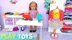 Baby Doll Shopping for Doll Clothes, Dresses, Shoes Toys!