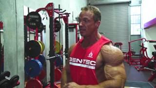 Bodybuilding champion Justin Wessels