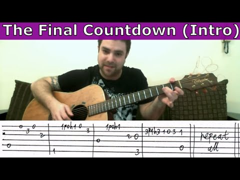 Tutorial: The Final Countdown (Intro) - Fingerstyle Guitar w/ TAB
