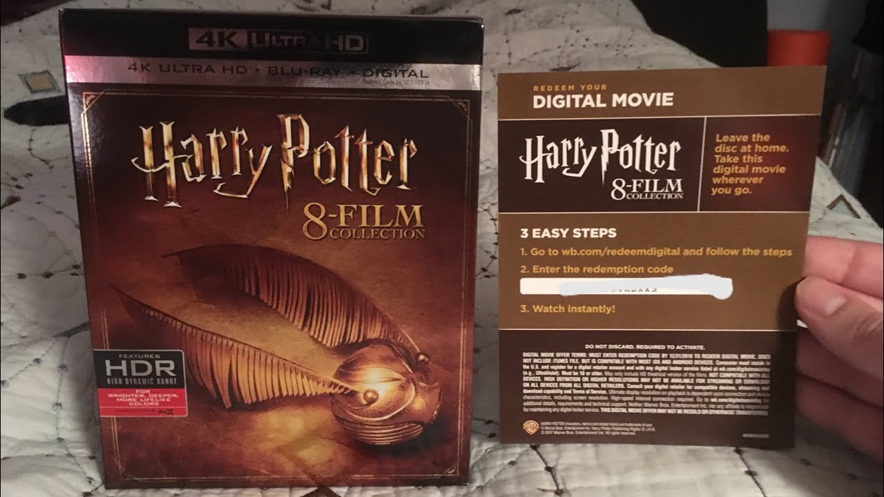 Harry Potter 8-Film Collection FREE Digital Code