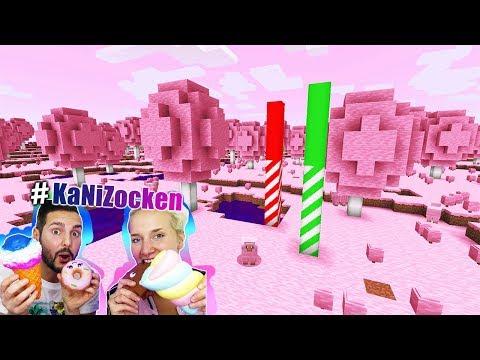 NINA + KAAN REAGIEREN AUF CANDY WORLD BEI MINECRAFT! Süßigkeiten Welt Mod Deutsch #KaNiZocken