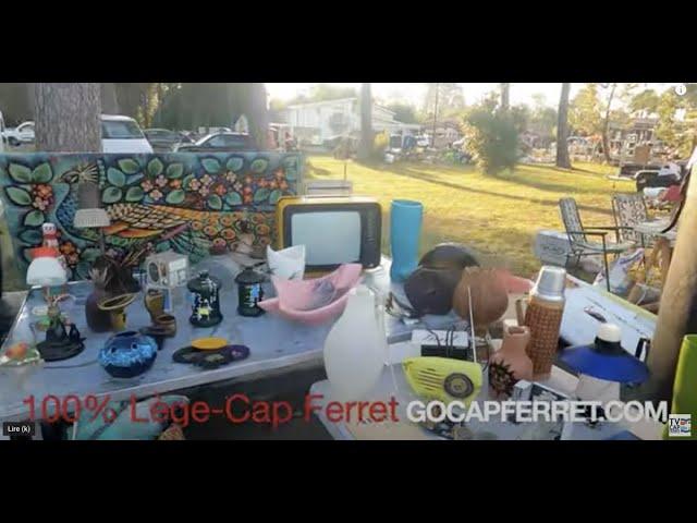 Balade au Vide-Grenier du village de Claouey, Lège-Cap Ferret Octobre 2021