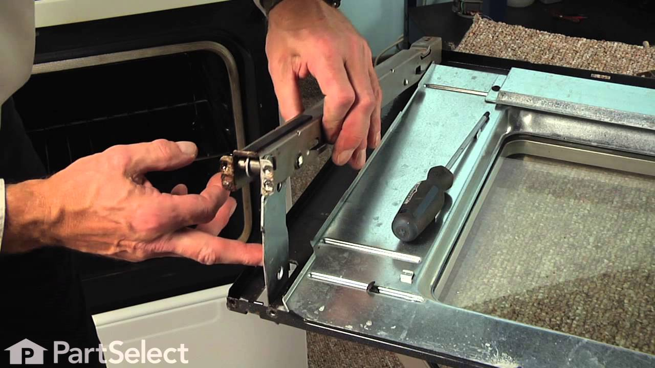 Rangestoveoven Repair Replacing The Door Hinge Whirlpoolpart