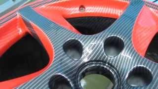 Автомобильные диски: Черно-красный карбон Каррера X(Диски были покрашены в красный цвет, затем через трафарет была нанесен контур черного цвета. После чего..., 2013-04-27T08:47:57.000Z)