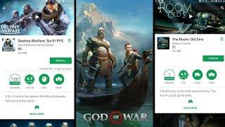 God of War 4 Launch, Destiny Warfare, The Room Old Sins free Android, Asphalt 9 or Fortnite Apkpure