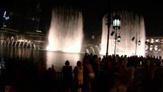 Dubai Fountain Arabic Song HD camera