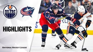 NHL Highlights   Oilers @ Blue Jackets 10/30/19