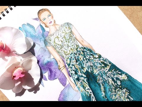 Fashion Illustration - Georges Hobeika haute couture fall 2016 | Nina Mid Illustrations