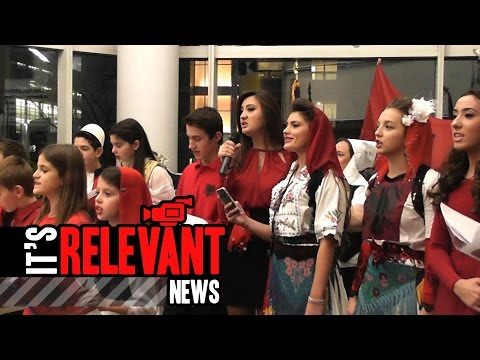 Albanian American Community gathers at Stamford's Government Center to Celebrate Independence
