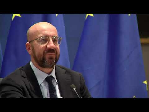 President Charles Michel eudebates with Emmanuel Macron an international Treaty on Pandemics