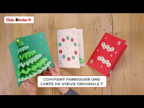 diy comment fabriquer une carte de voeux originale youtube. Black Bedroom Furniture Sets. Home Design Ideas