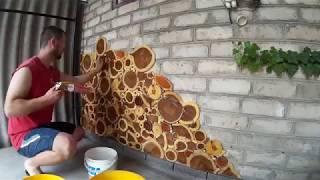 видео Спилы дерева для декора