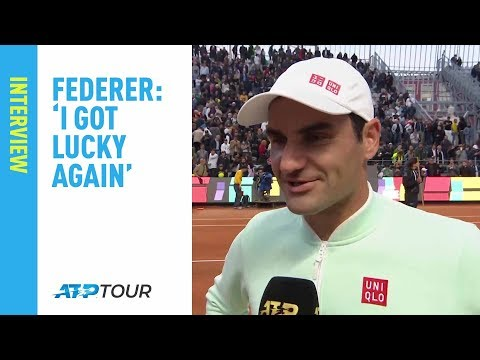 Federer On Saving Match Point In Rome | Rome 2019