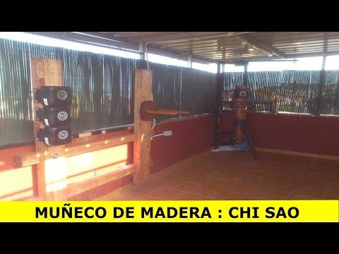 HOME MADE CHI SAO dummy / DIY MANNEQUIN BOIS CHI SAO / MUÑECO WING CHUN