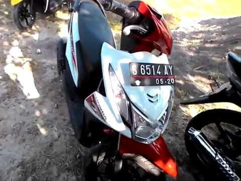 Honda Beat 110 Pgmfi Esp Putih Merah 2015 Youtube