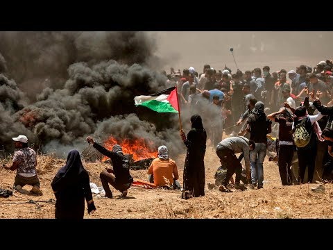 DIREKTE: Palestinere protesterer i Gaza