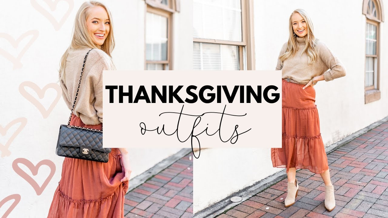 [VIDEO] - THANKSGIVING OUTFIT IDEAS FROM RED DRESS BOUTIQUE  FALL OUTFITS 2019 Amanda John 2