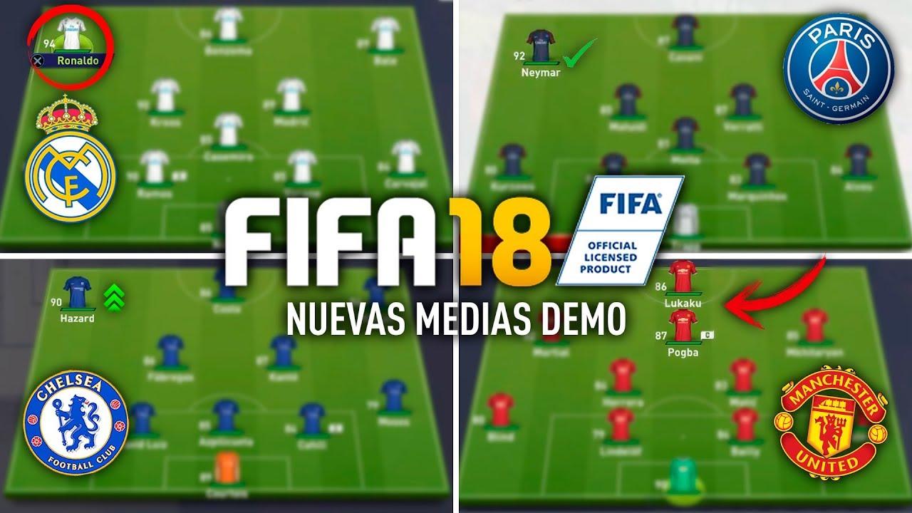 FIFA 18 MEDIAS OFICIALES DEMO - REAL MADRID, PSG, CHELSEA ...