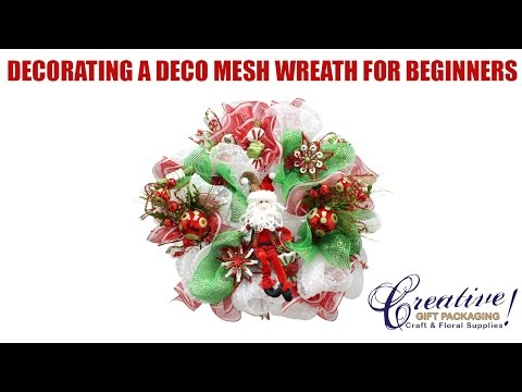 Part 2 Beginner Tutorial to decorating a Deco Mesh Wreath