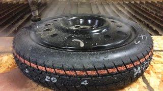 Donut Spare Tire vs 60,000 PSI Waterjet