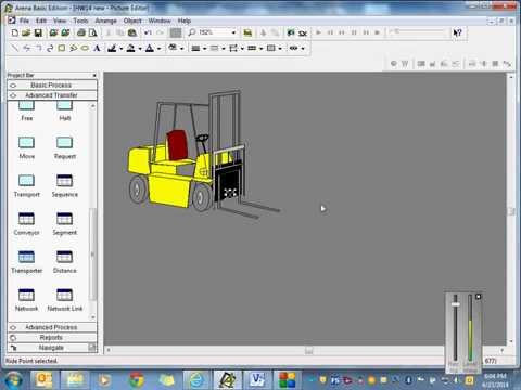 Rockwell Arena Simulation - Conveyors & Transporters