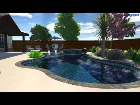 46 flower mound brad design portfolio swimming pools for Pool design dallas texas