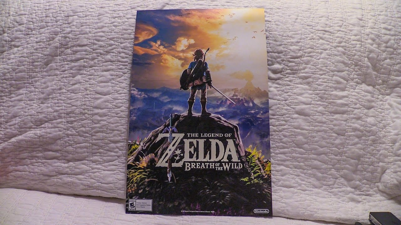 Zelda Breath Of The Wild Preorder Poster Youtube