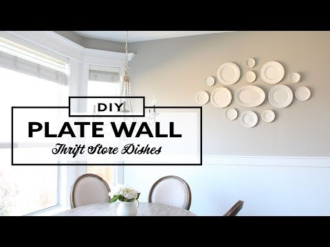 DIY Decorative Plate Wall - Thrifting