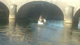 video bateau janneau pouldu avec moteur mercury 25 cv