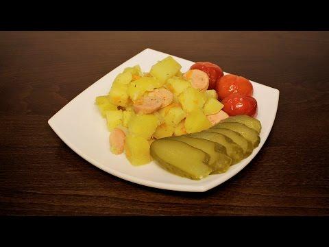 Картошка с сосисками в мультиварке рецепты