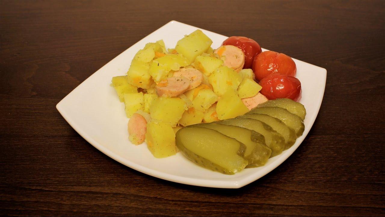 Вкусная Тушеная Картошка в Мультиварке, Простой Рецепт Рецепты для Мультиварки|картошка с мясом рецепт в мультиварке