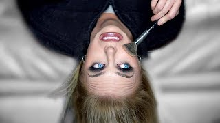 Doing My Makeup UPSIDE DOWN
