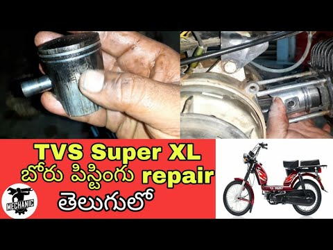How To Repair TVS XL Bore Pisting In Telugu||Kadthal Village Bike Mechanic