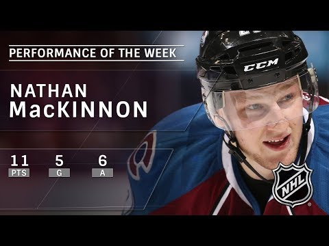 Nathan MacKinnon racks up 11 points in four-game span to spark Avs