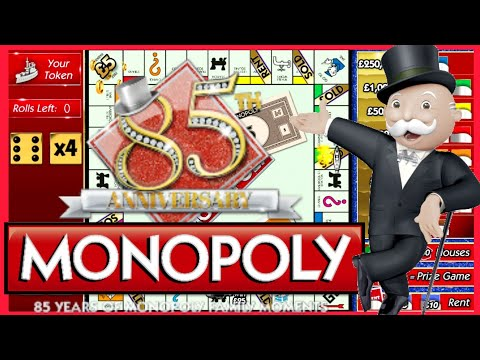 MONOPOLY 85th Anniversary Scratch Cards ONLINE X4 | Bierans Cards